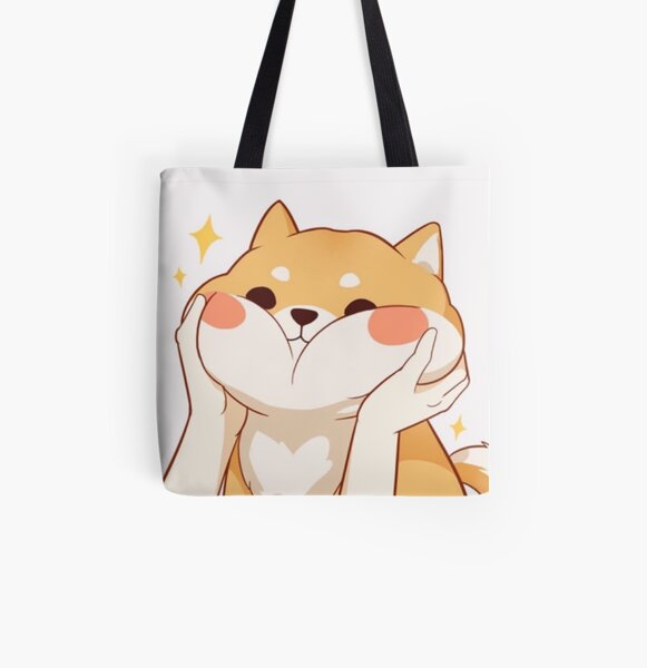 Kawaii Shiba inu All Over Print Tote Bag