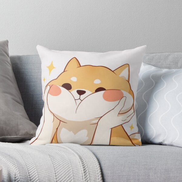 Kawaii Shiba inu Throw Pillow