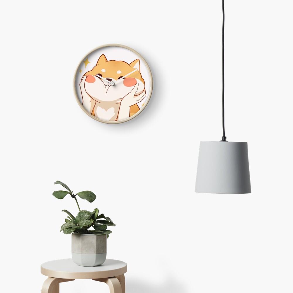 Kawaii Shiba inu Clock