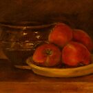 Apples from our garden by Jeremy Wallace