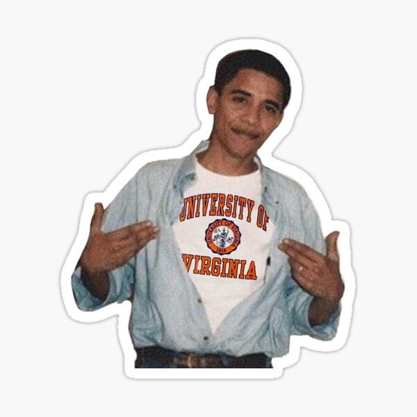 Barack Obama University of Virginia Sticker