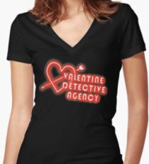 Valentine Detective Agency Women's Fitted V-Neck T-Shirt