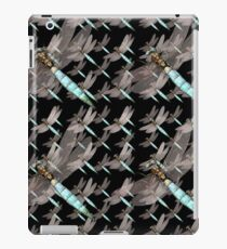 Dragonfly Air Force on Black iPad Case/Skin