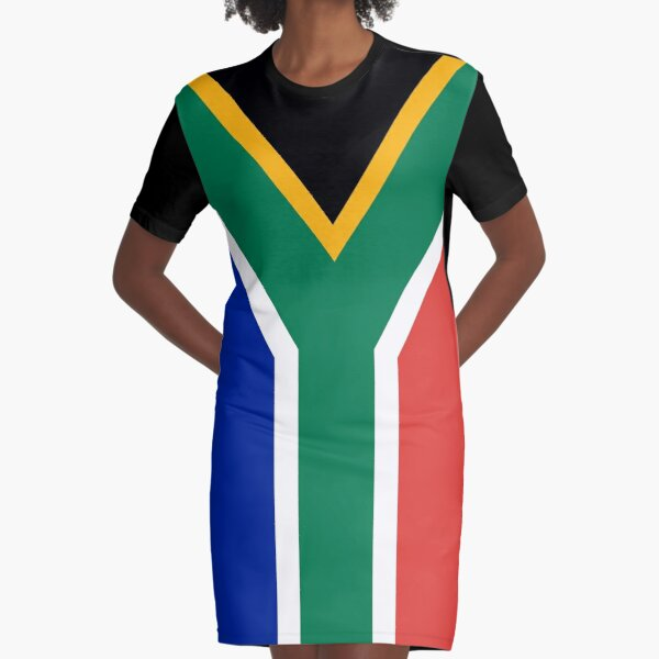 Flag of South Africa Graphic T-Shirt Dress