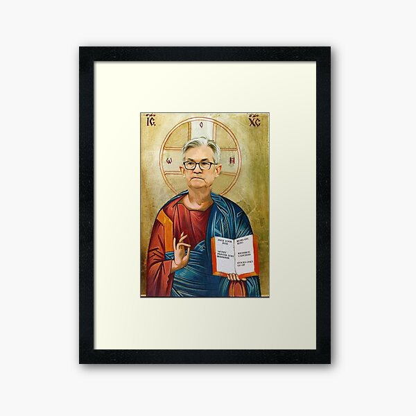 Jerome Powell Jesus Framed Art Print