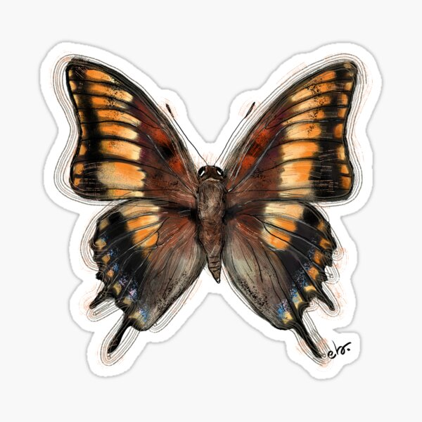 Butterfly _ magical woods theme Sticker