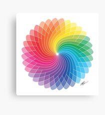 Colour Wheel Flower Canvas Print