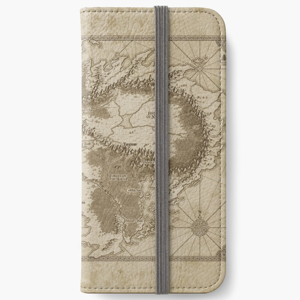 Altaica Fantasy Map Prints - Map for The Chronicles of Altaica (Artwork by Misty Beee) iPhone Wallet