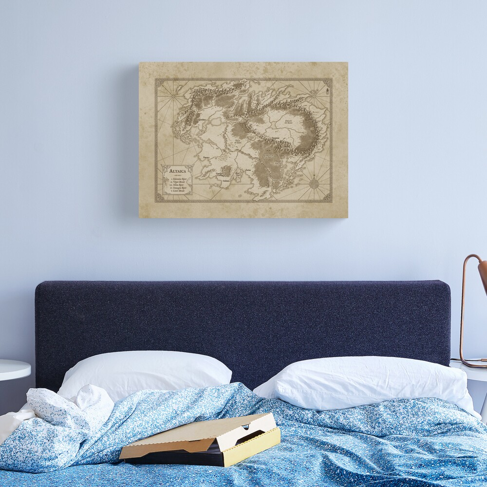 Altaica Fantasy Map Prints - Map for The Chronicles of Altaica (Artwork by Misty Beee) Canvas Print