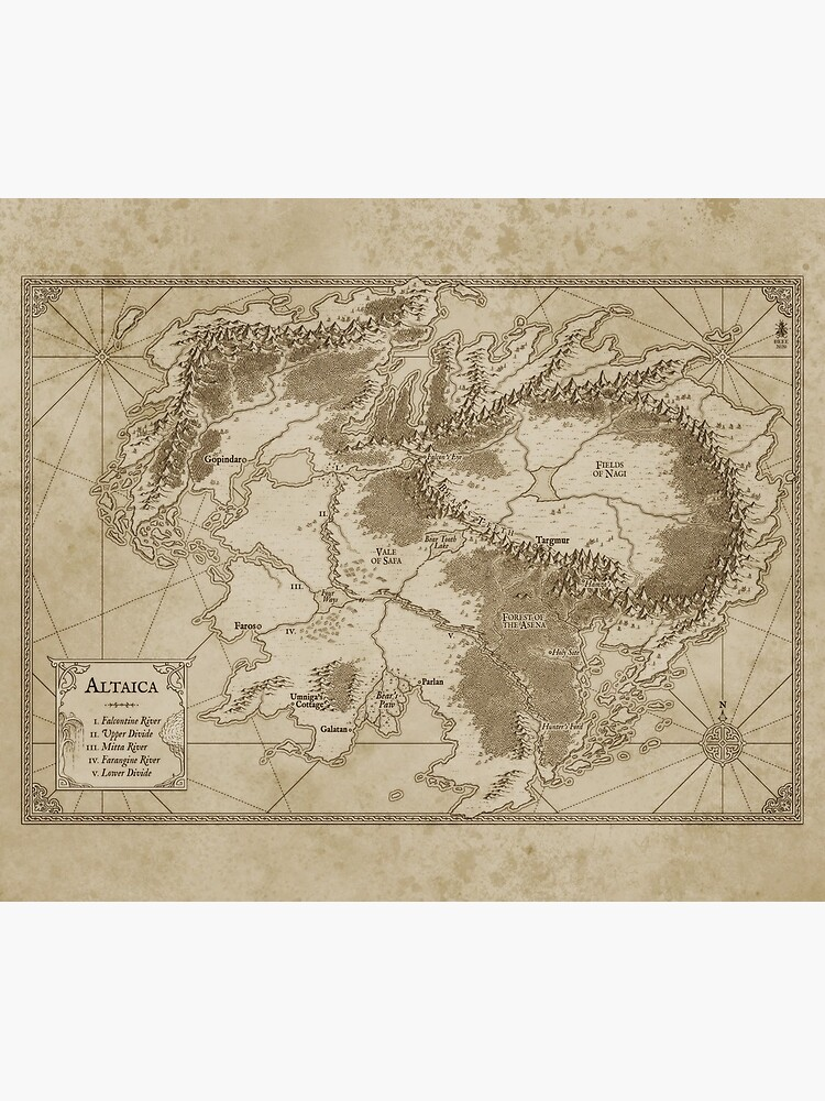 Altaica Fantasy Map Prints - Map for The Chronicles of Altaica (Artwork by Misty Beee) by tracymjoyce