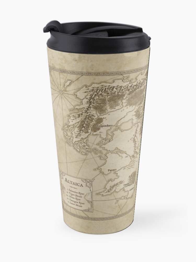 Alternate view of Altaica Fantasy Map Prints - Map for The Chronicles of Altaica (Artwork by Misty Beee) Travel Mug