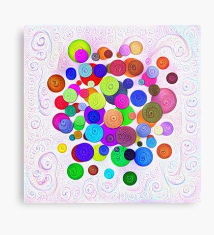 #DeepDream Color Circles Visual Areas 5x5K v1448388480 Metal Print