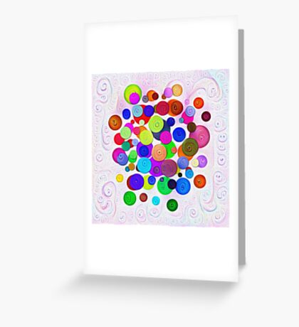 #DeepDream Color Circles Visual Areas 5x5K v1448388480 Greeting Card
