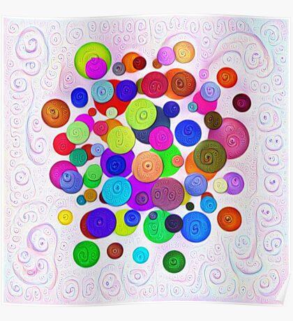 #DeepDream Color Circles Visual Areas 5x5K v1448388480 Poster