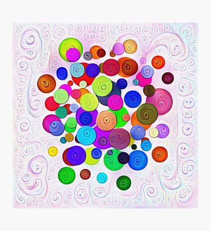 #DeepDream Color Circles Visual Areas 5x5K v1448388480 Photographic Print