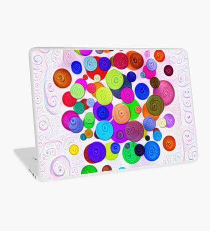 #DeepDream Color Circles Visual Areas 5x5K v1448388480 Laptop Skin