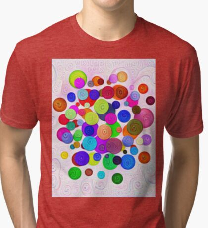 #DeepDream Color Circles Visual Areas 5x5K v1448388480 Tri-blend T-Shirt