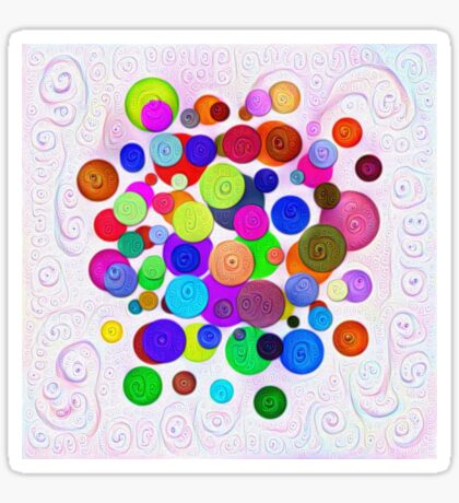 #DeepDream Color Circles Visual Areas 5x5K v1448388480 Sticker