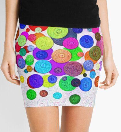 #DeepDream Color Circles Visual Areas 5x5K v1448388480 Mini Skirt