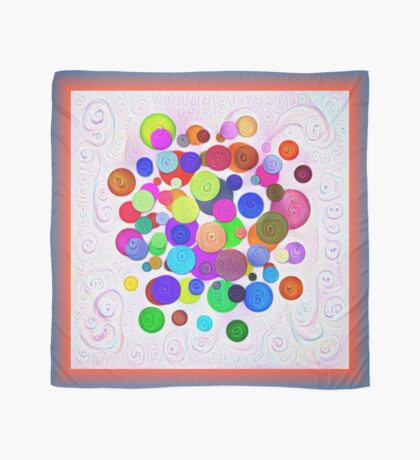 #DeepDream Color Circles Visual Areas 5x5K v1448388480 Scarf