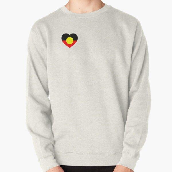 Aboriginal flag heart Pullover Sweatshirt