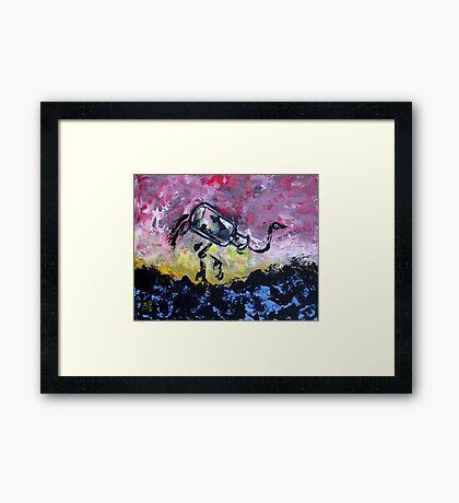 Jar Ostrich Framed Print