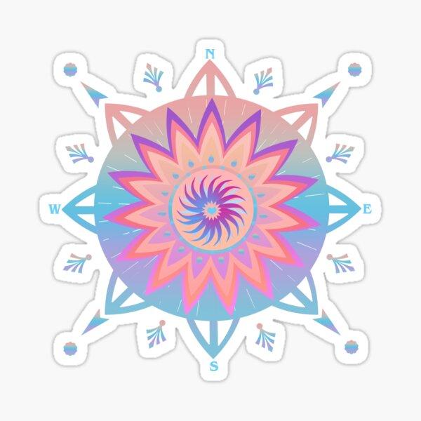 Compass Rose Graphic Art.  Sticker