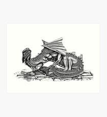 Chaos Dragon Art Print