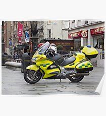 Ambulance Motorbike Poster