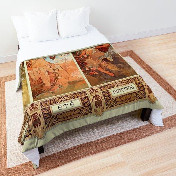 Alphonse Mucha Four Seasons Art Nouveau Comforter