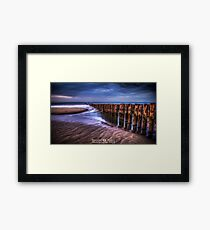 The fading pier Framed Print