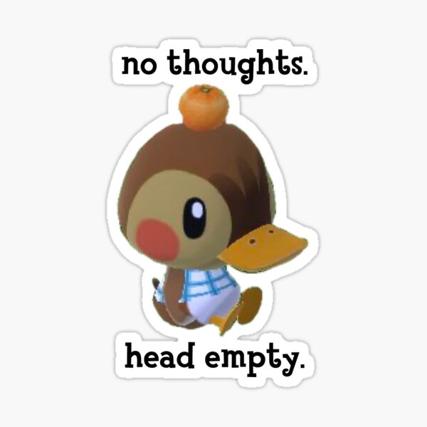 sin pensamientos cabeza vacía Pegatina