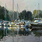 Early morning at Hamilton Bay. by Guennadi Kalinine