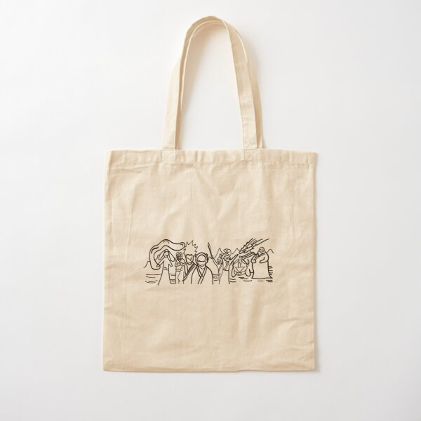 Sokka's Finale Drawing of the Avatar Gang Cotton Tote Bag