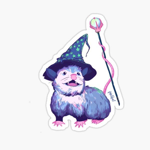 Opossum Wizard Sticker