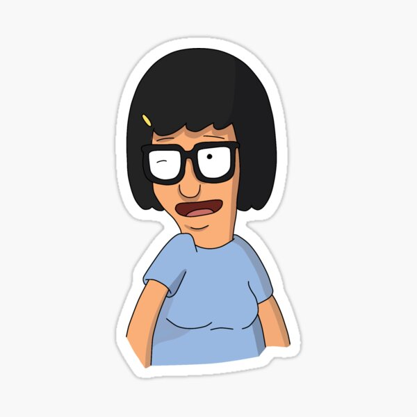 Winking Tina Sticker