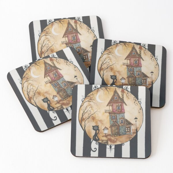 The house and the pussycat  Coasters (Set of 4)