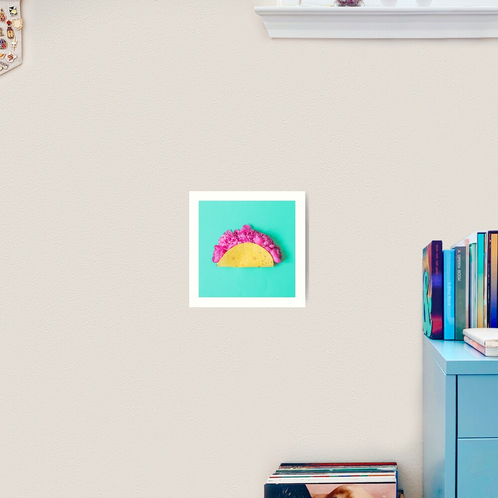 Tacos with flowers Art Print
