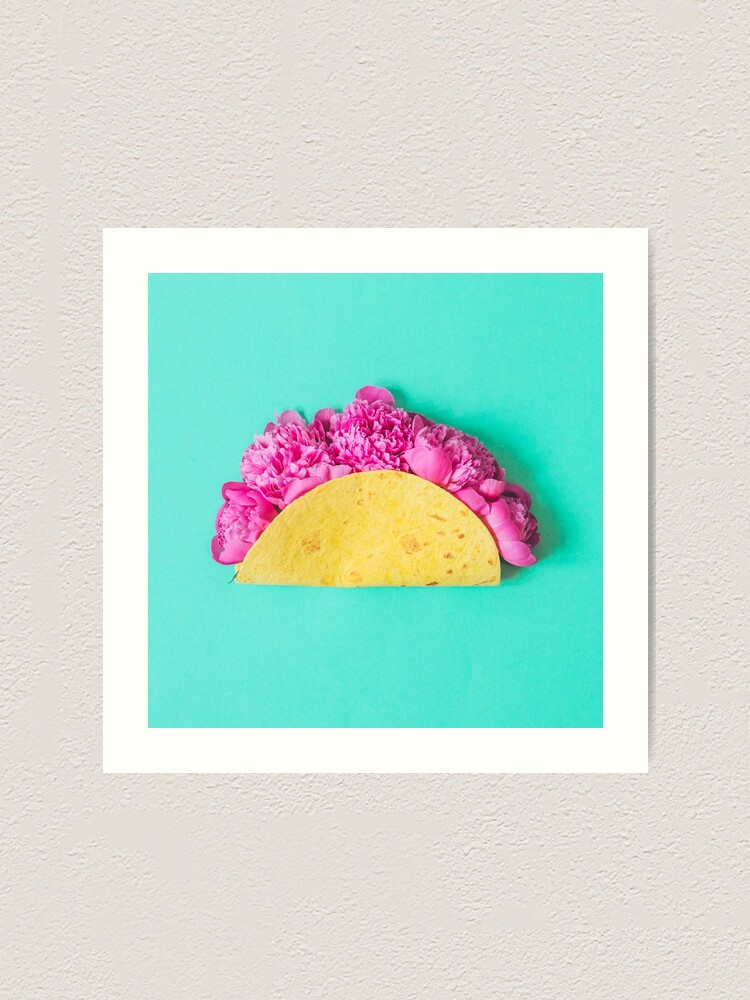 Alternate view of Tacos with flowers Art Print