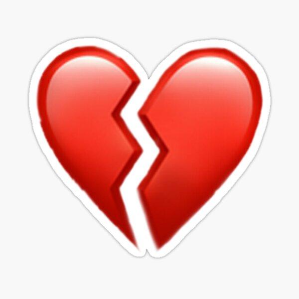 Corazón roto emoji Pegatina