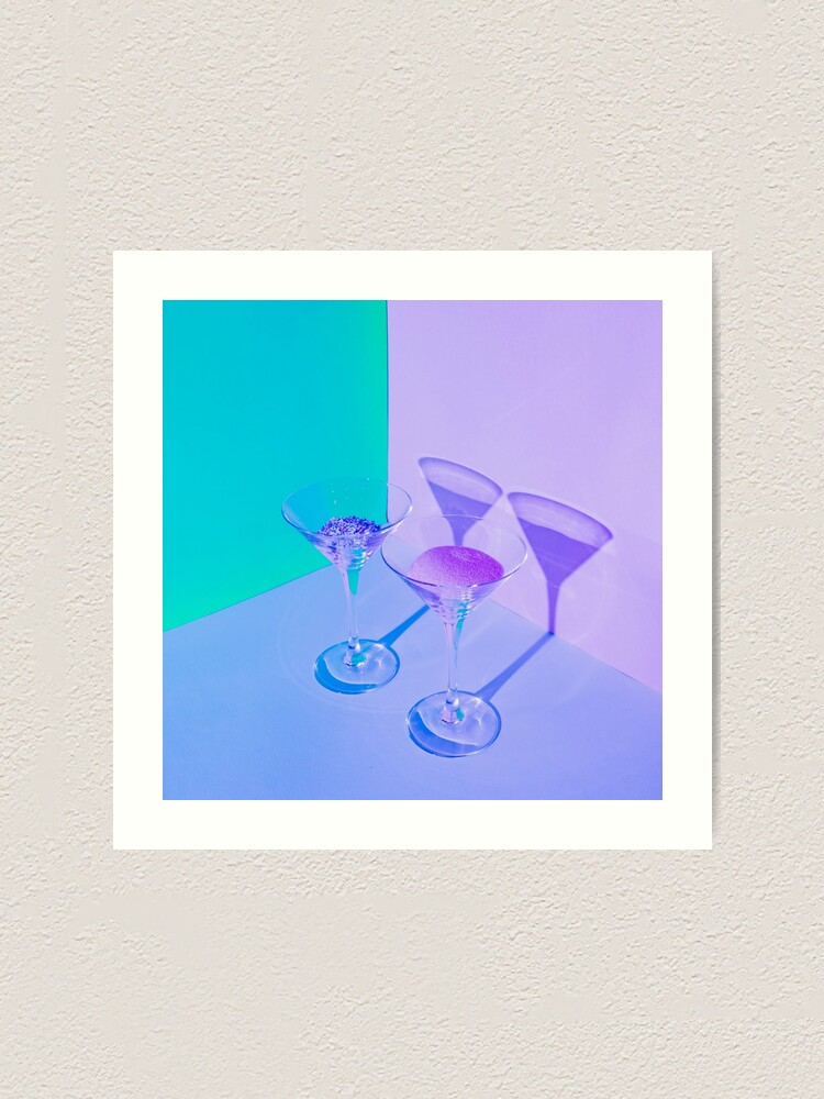 Alternate view of Two cocktail glasses Art Print