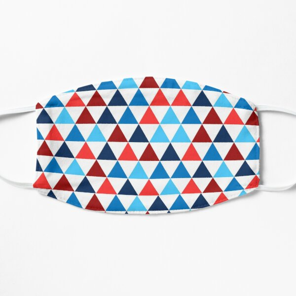 Triangle Tessellation Pattern - Red, White, and Blue Mask