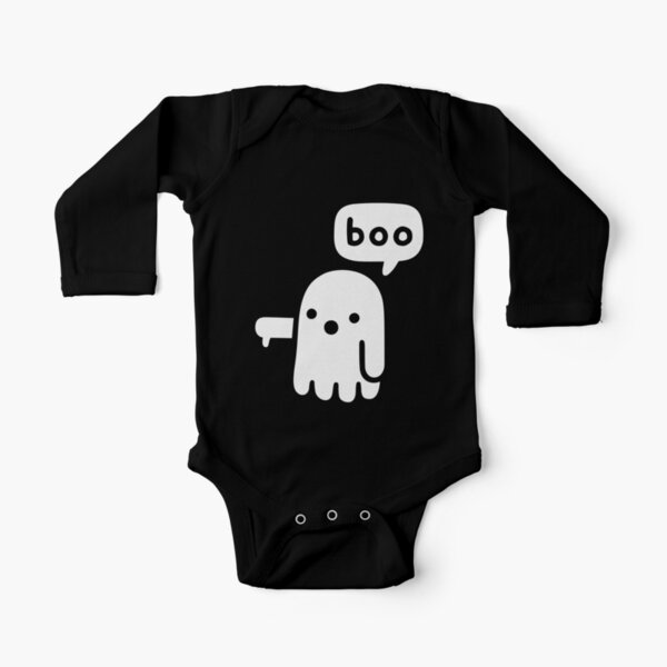 Ghost Of Disapproval Long Sleeve Baby One-Piece
