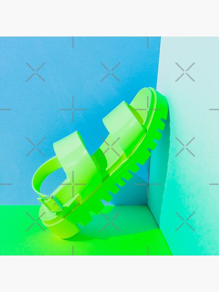 Yellow neon sandal  by KatyaHavok