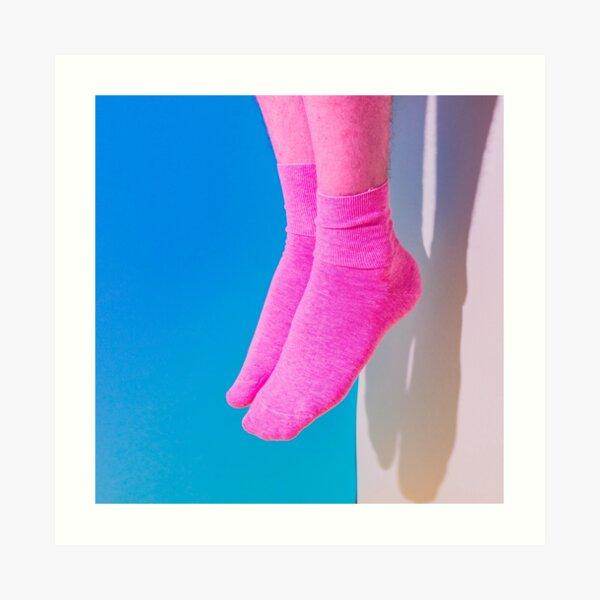 Pink legs in socks Art Print