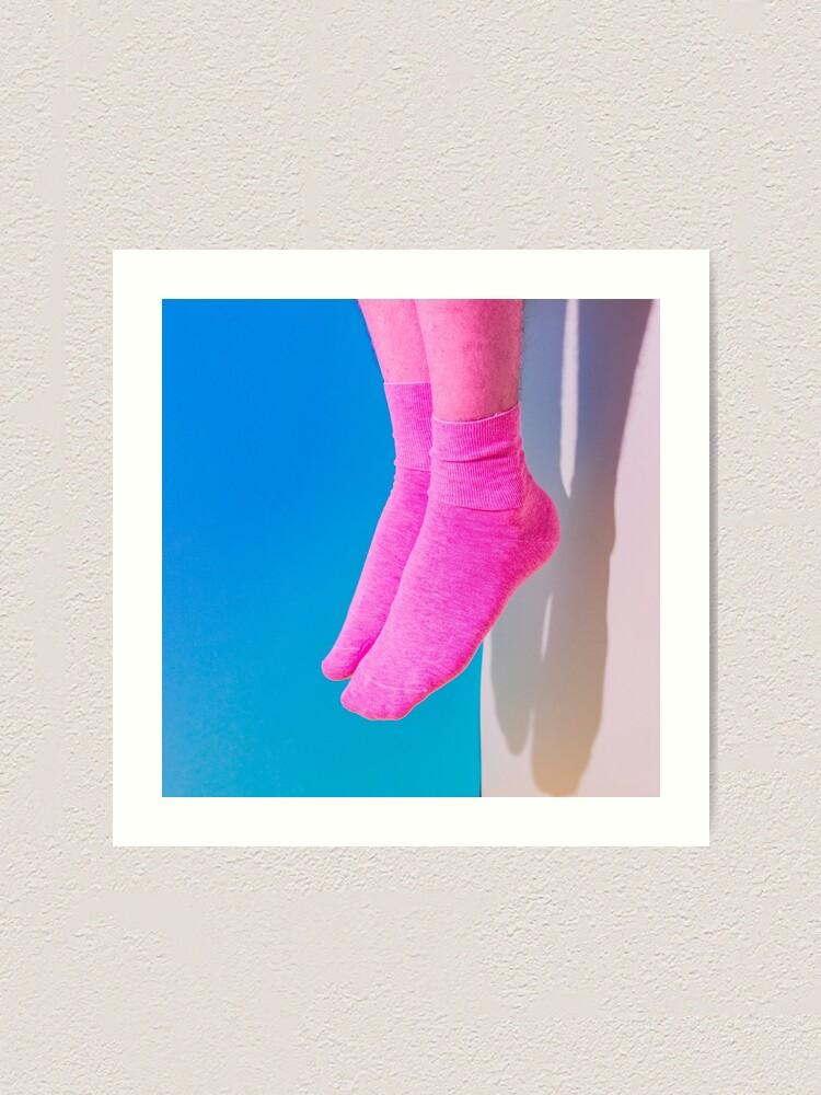 Alternate view of Pink legs in socks Art Print