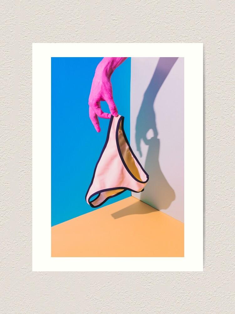 Alternate view of Hand holds the bikini Art Print