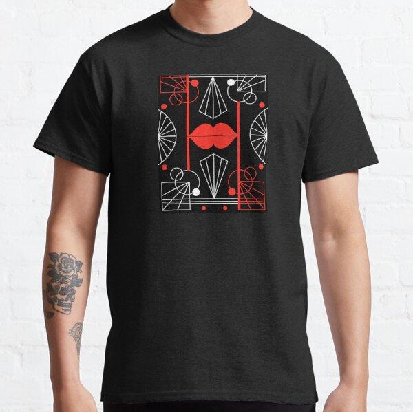 Graphic Art Deco Lips Classic T-Shirt