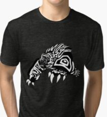 LoL - Volibear Black & White Tri-blend T-Shirt