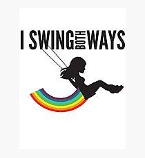 I Swing Both Ways Photographic Print